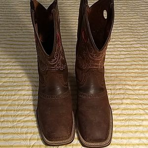 Brazos square toe men's size 7.5 in brown